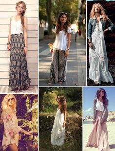 Maxi dresses and sweaters for the fall -- love them ALL