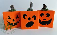 Set of 3 Wooden Pumpkins by KWintersDesigns on Etsy Wooden Pumpkins, Vinyl Lettering, Vinyl Designs, Planter Pots, Unique Jewelry, Handmade Gifts, Creative, Etsy, Vintage