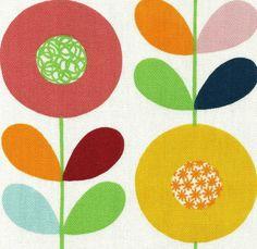 scandinavian fabric DIY cushion 50s 60s 70s vtg retro style patchwork #scandinavian #cirkelblomma