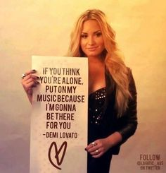 Demi Lovato <3  | she is such an inspirational person :)