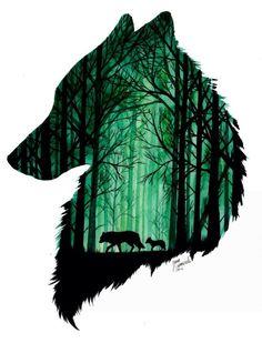 Ik vind dit een mooie cd hoes, want het is origineel omdat in een hoofd van een wolf weer wolven zijn