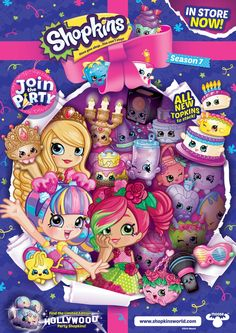 Shopkins Cartoon, Shopkins And Shoppies, Hollywood Party, Kids Room, Children, Birthday, Desserts, Beauty, Beautiful