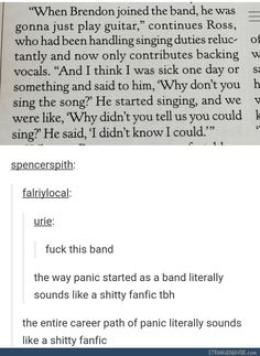 Panic really is just a shitty fanfic