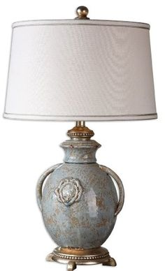 Light Blue Cancello 1 Light Table Lamp Model26483 <3 Details on product can be viewed by clicking the image