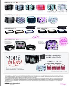 Pattern Options for November Special... Medium Utility Tote or Square Utility Tote only $7 with $35 purchase!!  https://www.mythirtyone.com/328463