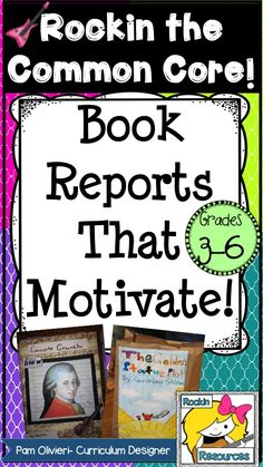 Book Reports That Motivate: Paper Bag Book Report- Fiction Mystery Board Game -Mystery Pizza Book Report -Choose an Ending Mystery Report -Cereal Box Biography Report -Historical Fiction Choice Report -100 Point Book Report- Any Genre -Fairy Tale Comparisons -Tall Tales