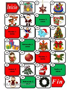 I've created a series of simple games for children to learn and revise basic Christmas vocabulary. Here comes the board game. Preschool Spanish, Spanish Teaching Resources, Spanish Classroom, Spanish Christmas, Spanish Holidays, Christmas Board Games, Christmas Activities, Spanish Games, Spanish Lessons