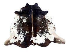 E-168 Speckled Brown n WhiteCowhide Rug Salt & by Cowhidesusa