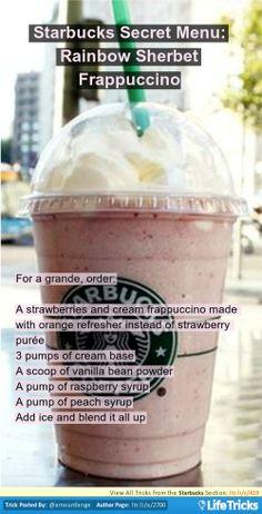 Starbucks - Starbucks Secret Menu: Rainbow Sherbet Frappuccino