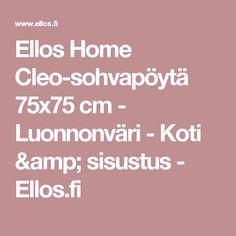 Ellos Home Cleo-sohvapöytä 75x75 cm - Luonnonväri - Koti & sisustus - Ellos.fi