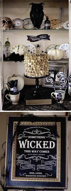 Halloween Decor with a touch of elegance
