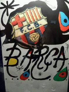 Pintura de Joan Miro, pintor catalan.. Por cierto Visca Barça!