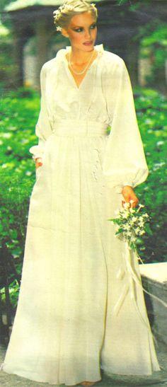 UNCUT  Wedding Dress Vintage Vogue Pattern 2053 by SewReallyCute