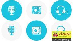 #Icon set - Multimedia #flat icon - Zizaza item for sale #icons #iconset #webdesign