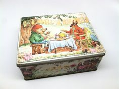 Norman Meredith Biscuit Tin England 1970 Vintage by SmallFavorites