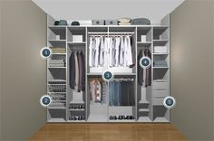 His and His fitted wardrobe Storage Solution