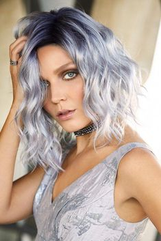 Evanna Wig by Rene of Paris: Salon finish beach wave curls fall shoulder length in this trendy bob with a new lace front monopart cap. Trending Hairstyles, Wig Hairstyles, Hairstyle Hacks, Beach Hairstyles, Men's Hairstyle, Funky Hairstyles, Formal Hairstyles, Ombre Hair, Wavy Hair