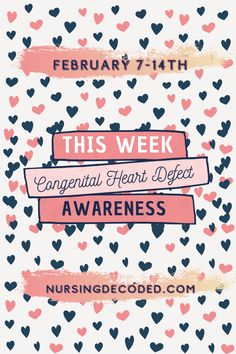This week, Feb 7-14th, is Congenital Heart Defect Awareness Week. Heart defects are the most common birth defect - statistics can be shocking Find support organizations that bring awareness to those families impacted by the diagnosis of CHD #CHDawarenessweek #CHDvoice #congenitalheartdefect #congenitalheartdisease #HLHS #nursingdecoded #nursepractitioner #awareness Chd Awareness, Congenital Heart Defect, Nurse Practitioner, Statistics, Organizations, Helping People, Nursing, Birth, Families