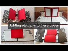 How to add elements to scrapbook pages Ideas Scrapbook, Mini Scrapbook Albums, Scrapbook Pages, Origami Templates, Box Templates, Tarjetas Pop Up, Paper Pop, Mini Album Tutorial, Paper Crafts Origami