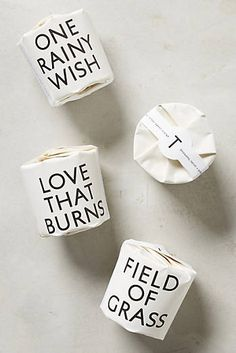 I like the packaging. Perhaps use something like this for gifts. Tisane Votive