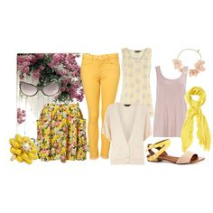 2012 S/S yellow and lilac, created by even-syao on Polyvore