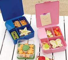 Love these bento box containers! Perfect for school lunches. $14.00 @PotteryBarnKids