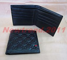 NEW GUCCI MEN'S GG BROWN LEATHER GUCCISSIMA  BI-FORD WALLET.(AA000783) #Gucci #Bifold