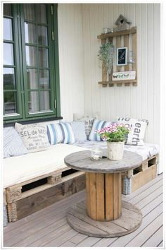 use Pallets for a seating area