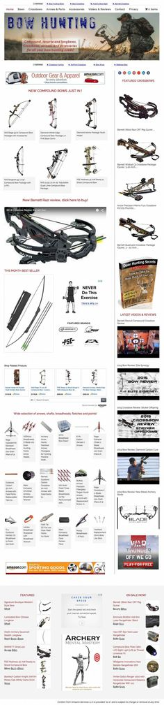Archery and Bowhunting estore website for affiliate marketing. Affiliate Websites, Affiliate Marketing, Archery Store, Bowhunting, Internet Marketing, Online Business, Bows, Amazon, Projects
