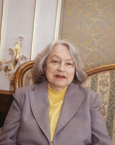 Adina Mandlová krátce před svou smrtí v roce 1991.
