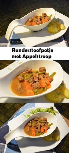 Runderstoofpotje met Appelstroop Een heerlijk stoofgerecht! #recept #stoofgerecht #soepkom