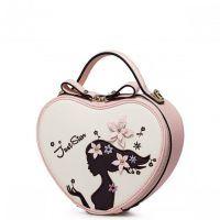 JUST STAR Dziewczęca torebka w kształcie serca Różowa