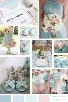 Duck Egg Blue Blush Wedding Colour Palette Flourish Lace Bespoke Wedding Stationery and Invitations Blush Wedding Colors, Blue And Blush Wedding, Wedding Color Schemes, Blush Pink, Beach Wedding Colour Scheme, Wedding Colours Summer, Wedding Colour Palettes, Blush Weddings, Blush Color Palette