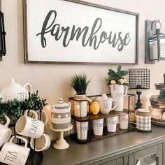 Home Decor White When life gives you lemons buy a farmhouse sign to go with it.Home Decor White When life gives you lemons buy a farmhouse sign to go with it. Coffee Bar Home, Coffee Area, Coffee Nook, Coffee Corner, Organizing Hacks, Organization Ideas, My New Room, Home Living Room, Farmhouse Decor