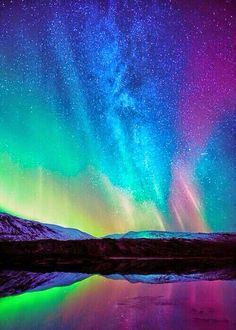Aurora Australis,the Southern Lights over Australia