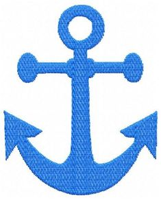 Machine embroidery design - Mini  Anchor embroidery design in 6 sizes.