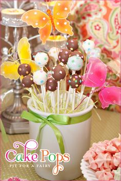 Great party theme ideas! This is for a Fairy Garden Birthday Party.
