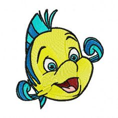 "Shoply.com -Disney Princess Little Mermaid Flounder Filled Machine Embroidery Design in 4 Sizes. Only $3.99 The family act will specialize or personalize on any towel find us ""The Family Act"" on ebay or contact us at usacardinal35@cablelynx.com please put the word order in subject line"