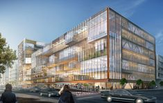 Image 2 of 10 from gallery of SHoP Unveils Plans for New Uber Headquarters in San Francisco. Photograph by SHoP Architects Shop Architects, San Francisco Neighborhoods, Architect Magazine, Mission Bay, Facade Design, Interior Exterior, Interior Design, Plans, Modern Architecture