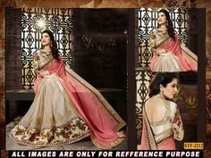 light pink  ambroidery georgette  party wear saree with blouse Sarees on Shimply.com