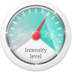 Adjust the intensity levels in your life