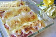 Cauliflower gratin recipe rolled with ham and béchamel sauce so endive with ham - Kaderick in Kuizinn © Gluten Free Recipes, Great Recipes, Cauliflower Gratin, Bechamel Sauce, French Pastries, Sauce Béchamel, I Foods, Coco, Baked Goods