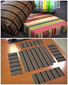 DIY Outdoor Cushion Covers - 20 DIY Cushions or DIY Pillow Ideas To Upgrade Your Seating - DIY & Crafts