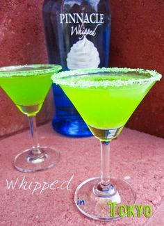Whipped in Tokyo Martini! Made with the yummy Whipped Vodka, nigori sake and Midori