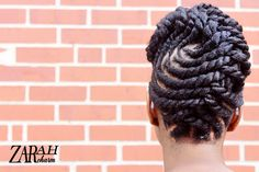 BEAUTIFUL! Flat twist pinup by ZarahCharm. Are you lost in your natural hair journey? Click here for the Ultimate Natural Hair Guide.
