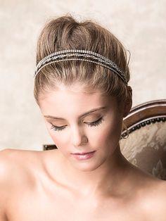Wedding Crystal Headband Bridal Rhinestone by GlamorousBijoux