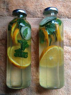 orange mint water.