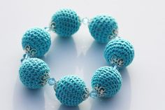 Turquoise Crochet Bead Bracelet £7.99
