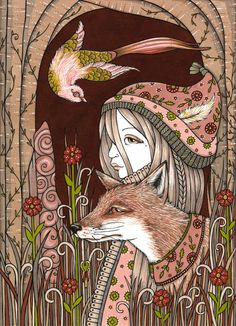 Anita Inverarity | INK on illustration board | The Golden Bird