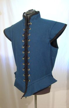 CUSTOM MADE Renaissance Men's Linen Doublet for faire or SCA. $125.00, via Etsy.